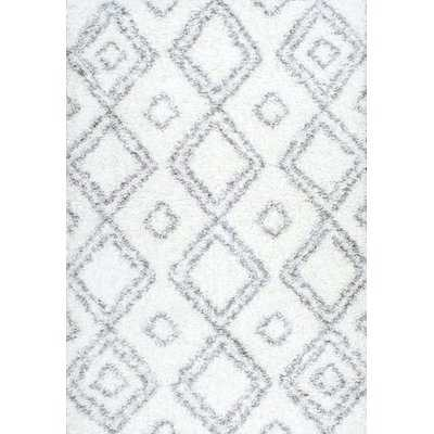Cardoso Shag White Area Rug - Wayfair