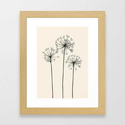 Dandelions Framed Art Print - Society6
