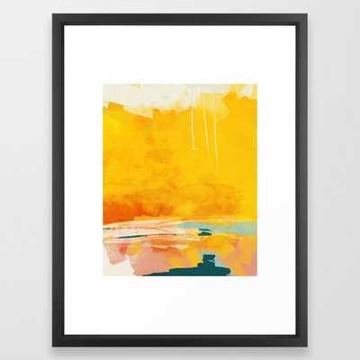 "sunny landscape - 20"" x 26"" - vector black - Society6"
