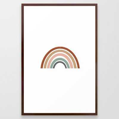 Rainbow earth tone cute kids room decor muted rainbow art print for nursery Framed Art Print - Society6
