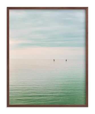 Hushed Horizon - 16 x 20, Walnut Wood Frame - Minted