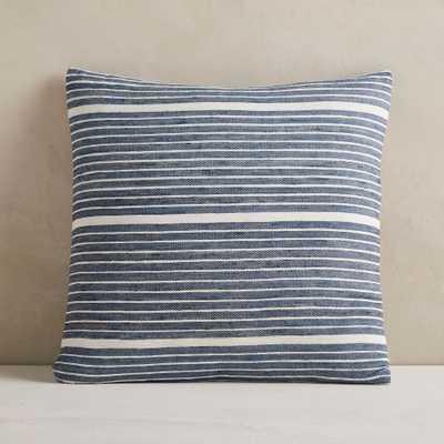 "Silk Mini Stripe Pillow Cover, 20""x20"", Midnight, Set of 2 - West Elm"