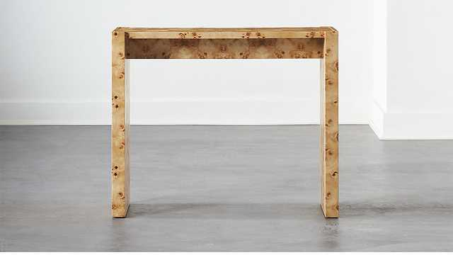 NICHE BURL WOOD CONSOLE TABLE - CB2