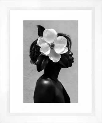 Magnolia Framed Art Print scoop white 10 x 12 - Society6