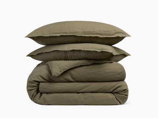 King/Cal King Linen Duvet Cover Set in Surplus - Parachute