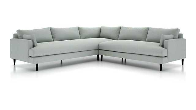 Monahan 2-Piece Left Arm Corner Sofa Sectional - Crate and Barrel