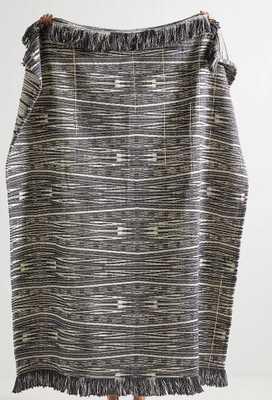 Textured Kadin Throw Blanket - charcoal - Anthropologie