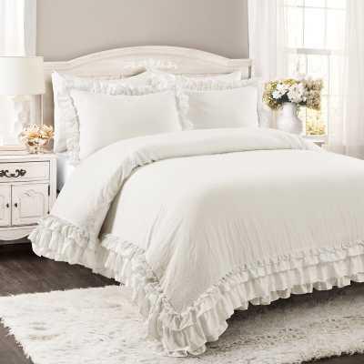 Esai Shabby Elegance Ruffle Lace Comforter Set - Wayfair