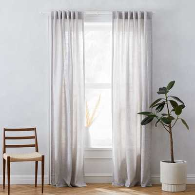 "Crossweave Curtain + Blackout Panel, Stone White, 48""X84"" - West Elm"