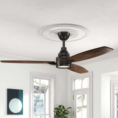 "60"" Kovach 3 - Blade LED Standard Ceiling Fan with Remote Control and Light Kit Included - Birch Lane"
