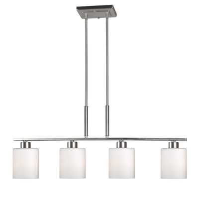 Osias 4-Light Kitchen Island Pendant, Brushed Nickel - Wayfair