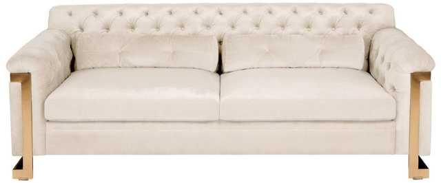 Lethbridge Tufted Velvet Sofa - White - Arlo Home - Arlo Home