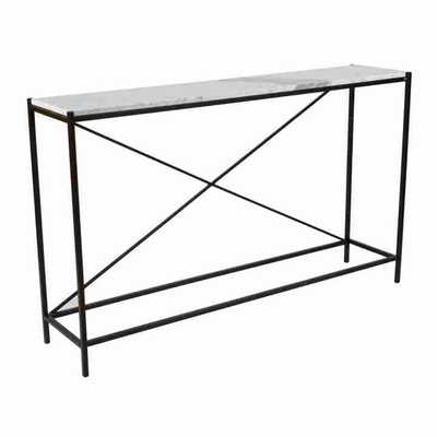 SMYTHE CONSOLE TABLE, MARBLE - Curated Kravet