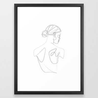 Framed Art Print - The Girl with an Earring - Society6