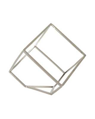 OPEN CUBE OBJECT - SILVER - McGee & Co.