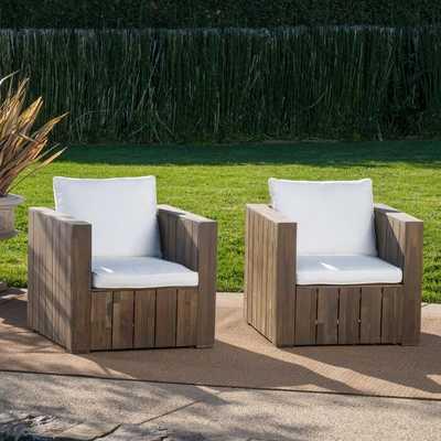 Philip Patio Chair with Cushion (set of 2) - Wayfair