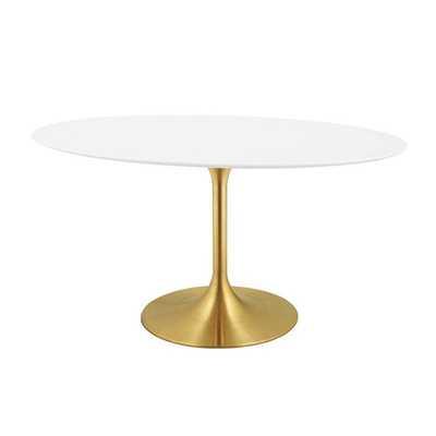 "Julien Oval Dining Table - 78"" - Wayfair"