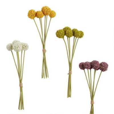 Mini Faux Spring Allium Bundles Set Of 4 - World Market/Cost Plus