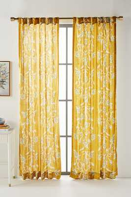 Fritha Curtain By Anthropologie in Yellow Size 50X96 - Anthropologie