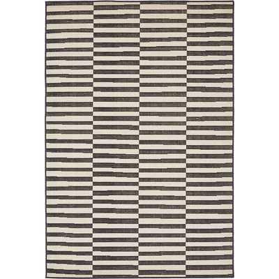Mercury Row Braxton Black Area Rug - 8x10 - Wayfair