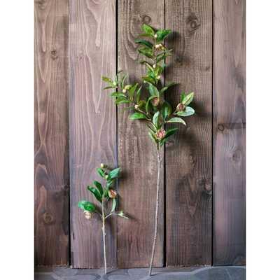 Silk Flower Leaf Camellia Stem - Wayfair