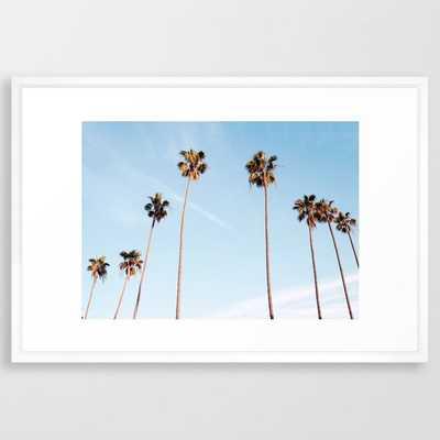 LA Palm Trees Framed Art Print - Society6