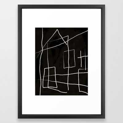 "Diluted Room Framed Art Print, 20"" x 26"", Vector Black - Society6"