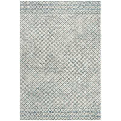 Costin Abstract Handmade Tufted Wool Blue Area Rug - Birch Lane