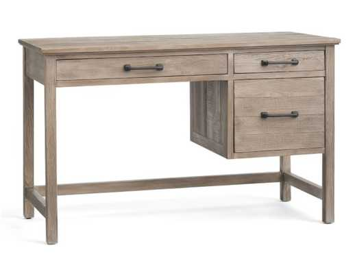 """Paulsen 49"""" Reclaimed Wood Desk with Drawers - Pottery Barn"""