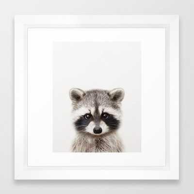 Baby Raccoon, Baby Animals Art Print By Synplus Framed Art Print - Society6