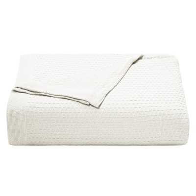 Baird Cotton Bed Blanket, King, White - AllModern