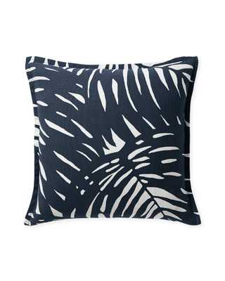 Palm Outdoor Pillow Cover - Midnight - Insert sold separately - Serena and Lily
