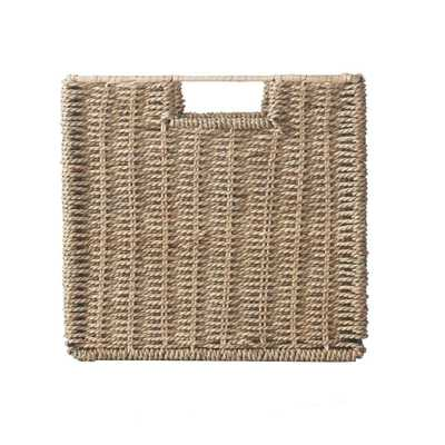 11 in. x 10.5 in. Bin Basket (Set of 3), Seagrass - Home Depot