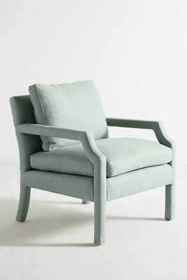 Belgian Linen Delaney Chair - Celadon - Anthropologie