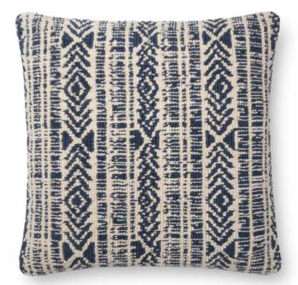 IONE PILLOW, NAVY AND IVORY - Lulu and Georgia