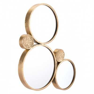 Tri Circular Mirror Gold - Zuri Studios