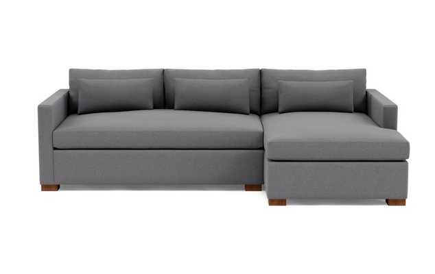 """CHARLY Sectional Sofa with Right Chaise - Oiled Walnut Legs - 110"""" L - Interior Define"""