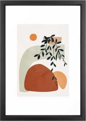 Soft Shapes I Framed Art Print - 15x21 - Society6