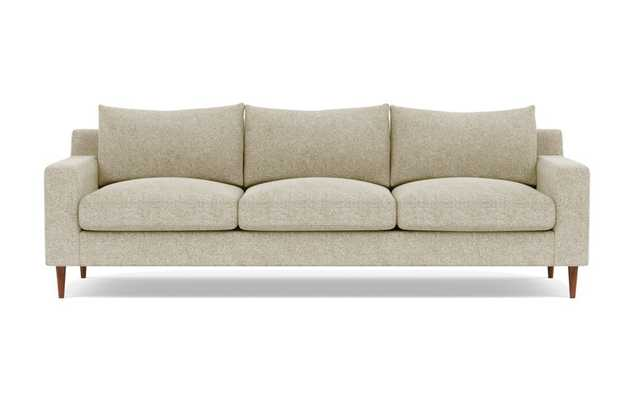 Sloan 3-Seat Sofa/ Opal + Oiled Walnut Tapered Round Wood - Interior Define