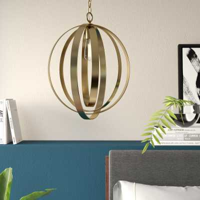 Aalin 1-Light Single Globe Pendant - Wayfair