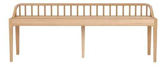 CARLI BENCH - NATURAL OAK - McGee & Co.
