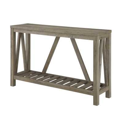 "Offerman 52"" Console Table / Gray Wash - Wayfair"