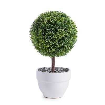"""Jardin 10"""" Potted Faux Topiary in Boxwood Ball - Burke Decor"""