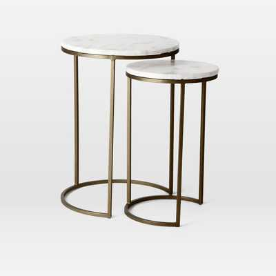 Marble Round Nesting Side Table (Set Of 2) - West Elm