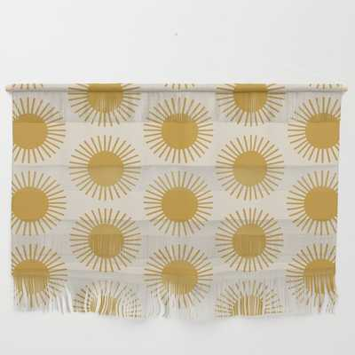 Golden Sun Pattern Wall Hanging - Society6