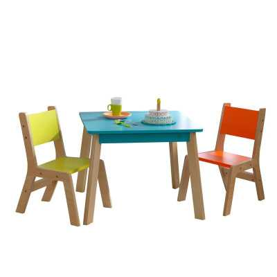 Modern Kids 3 Piece Writing Table and Chair Set - Wayfair