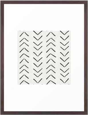 Mud Cloth Big Arrows in Cream Framed Art Print - Conservation Walnut Frame - Society6