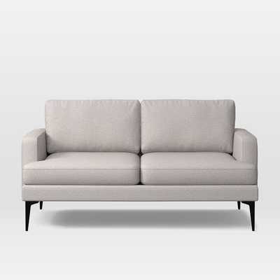 Andes Loveseat, Poly, Twill, Wheat, Dark Pewter - West Elm