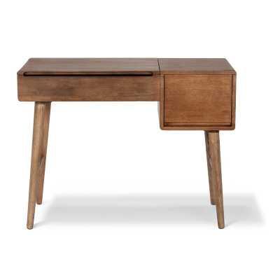 Estevao Oliver Solid Wood Vanity with Mirror - Wayfair