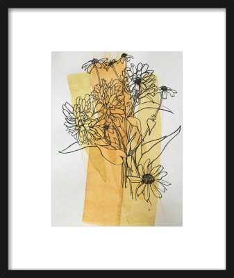 Meadow Flowers by Megan Williamson for Artfully Walls BLACK FRAME - Artfully Walls